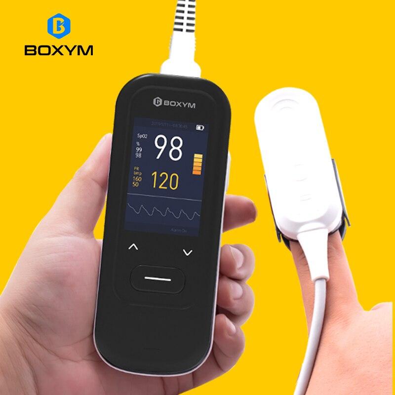 BOXYM медицинский ручной пульсоксиметр портативный Перезаряжаемый пульсометр с кислородом в крови для взрослых детей новорожденных oximetro