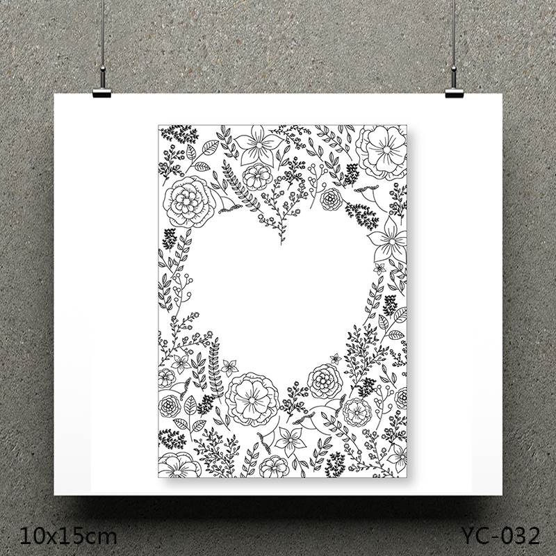 AZSG Romantic love Clear Stamps/seal for DIY Scrapbooking/Card Making/Photo Album Decoration Supplies