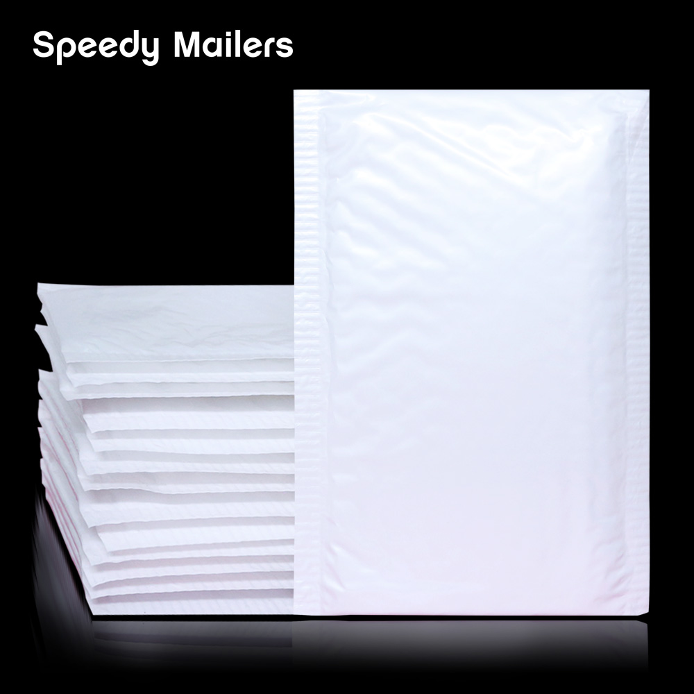 Speedy Mailers Poly Bubble Mailer Envelopes Padded Mailing Bag Self Sealing Waterproof White Pearl Film Bubble Envelope Bags