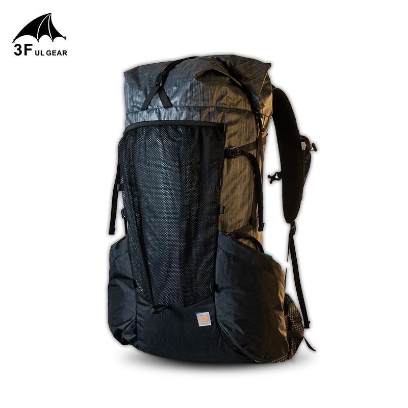 Mochila ultraleve yue 45 + 10l, mochila masculina e feminina para trilhas ao ar livre, acampamento, viagem, escalada