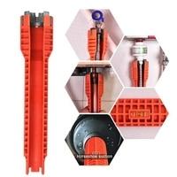 Neue Wasserhahn und Waschbecken Installer  Extra lange design Tool Wrench Tools Orange-in Schraubenschlüssel aus Werkzeug bei