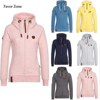 Autumn Winter Fleece Hoodies Women Long Sleeve Warm Sweatshirt Hooded Coat Zipper Velvet Female Outwear Tops Plus Size Jacket women solid color plush hooded sweatshirt autumn winter long sleeve loose warm hoodies coat pockets casual fashion outwear tops