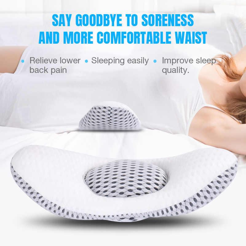 3d back waist pillow with buckwheat sleep pillow bed pregnancy pillow waist support lumbar disc herniation protector cushion