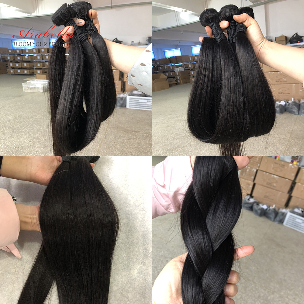 Arabella Hair s 3/4 Bundles 100%   Bundles 1B  Straight Hair   Hair s Bundles 5