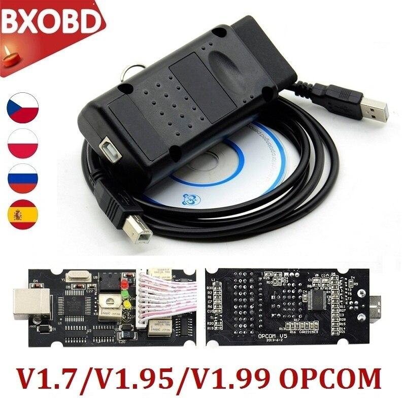 OPCOM 2021 200603a OP COM 1,99 1,95 1,70 OP-COM PIC18F458 FTDI OPCOM 2018 Интерфейс Opel OP COM Профессиональный диагностический инструмент