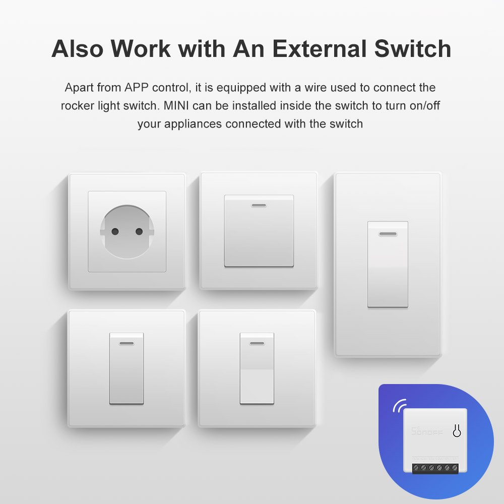 Image 3 - Itead 5/10/20PCS Sonoff MINI DIY Small Body Remote Control Wifi  Smart Switch Support External Switch Work With Alexa IFTTTHome  Automation Modules