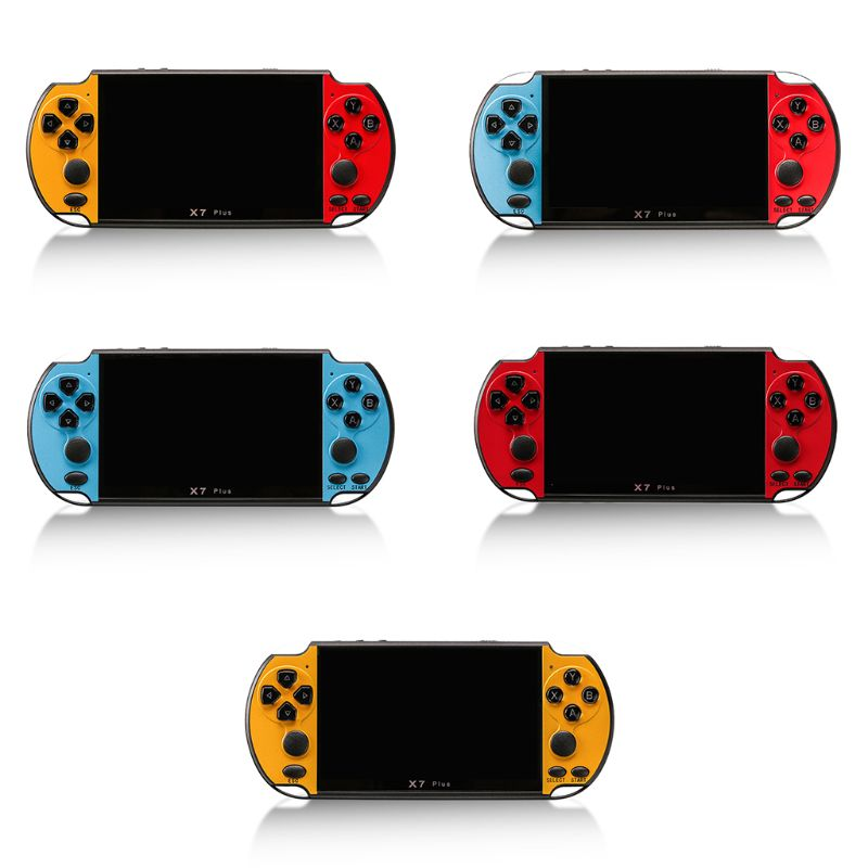 """X7Plus, pantalla colorida de 5,1 """", consola de juegos, Dual Rocker, portátil, Retro, Host de juego"""
