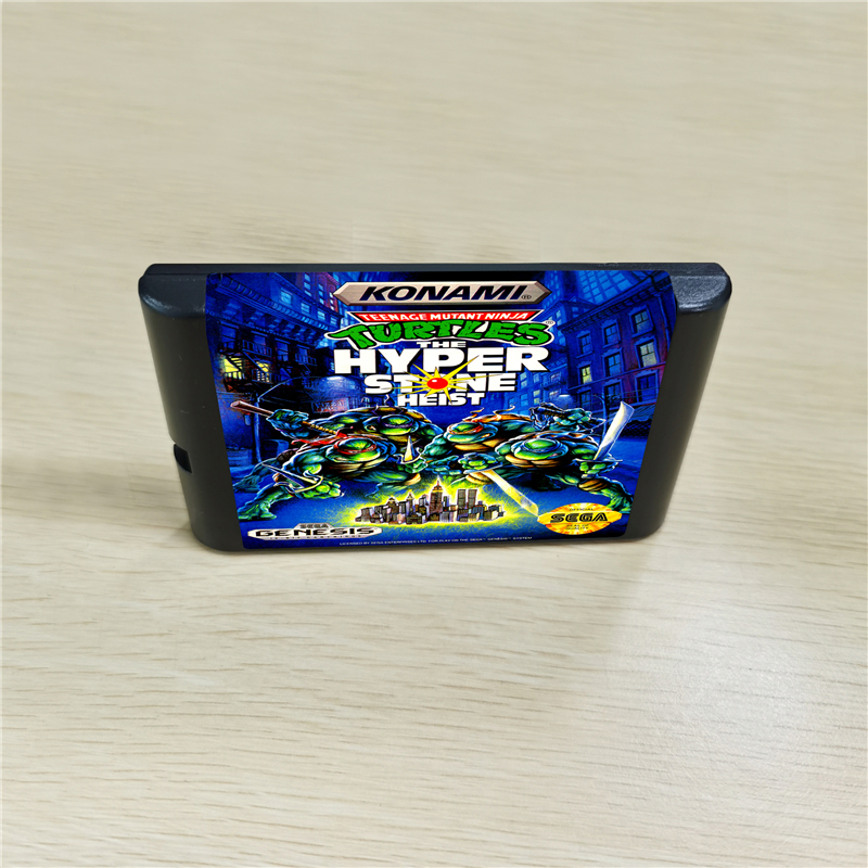 Ninja Turtles The Hyper Stone Heist  - 16 Bit MD Games Cartridge For MegaDrive Genesis Console