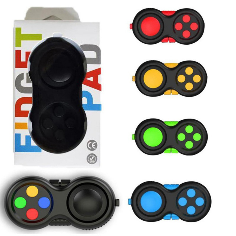 Fidget Pad Portable Controller Buttons Stress Relief Decompression Toy Keychain Tool relieve the stress Tool New