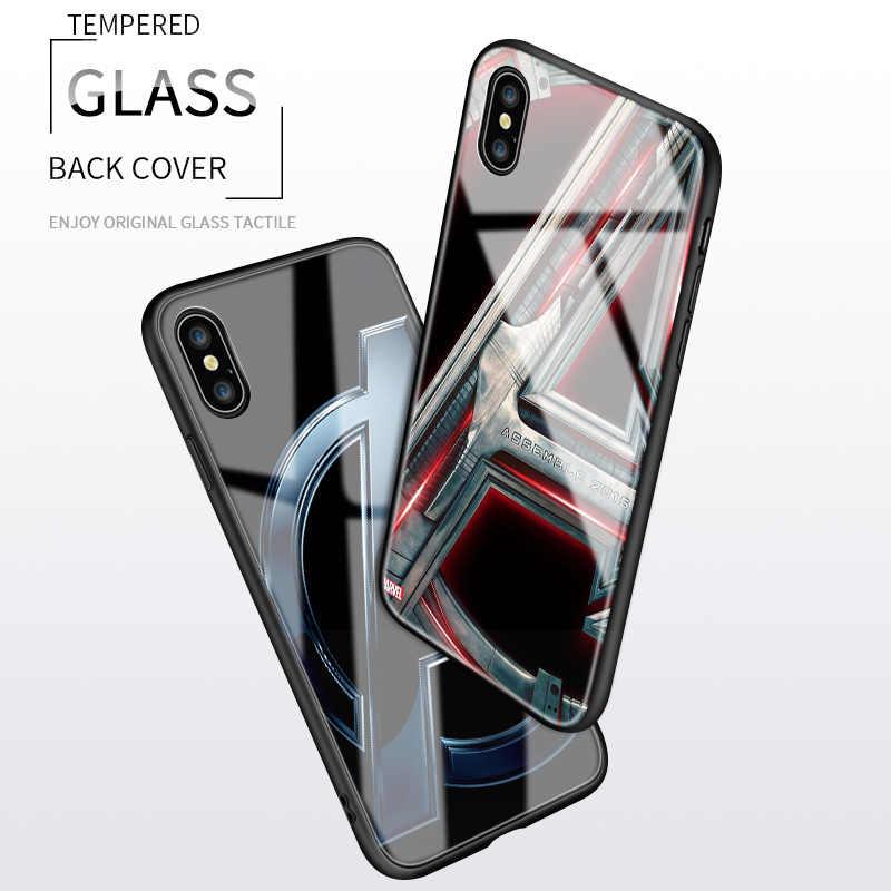 "Untuk Samsung Galaxy Note 8 9 10 Plus Marvel Avengers Logo Huruf ""A"" Sepuluh Tahun Glossy Case tempered Kaca Back Cover Casing"