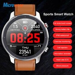 Новое поступление, Смарт-часы Microwear L11 с сенсорным экраном, спортивный трекер, пульсометр, bluetooth, водонепроницаемые, IP68, мужские умные часы
