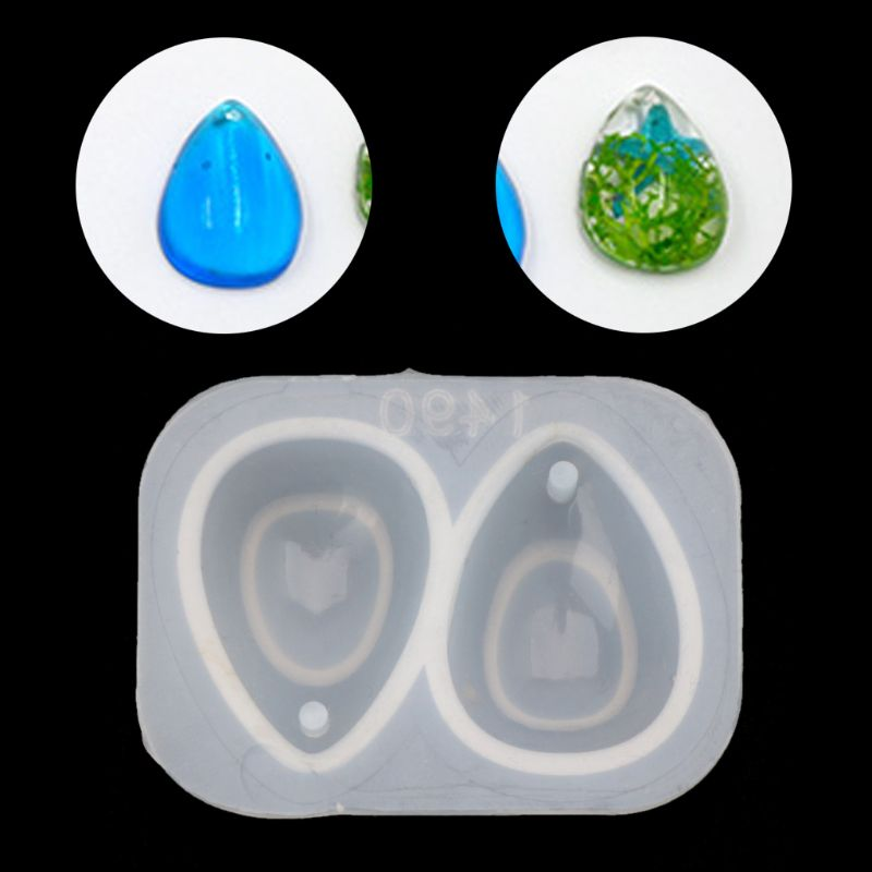 Teardrop Shape Pendant With Hole Craft DIY Silicone UV Resin Jewelry Mold X7YC