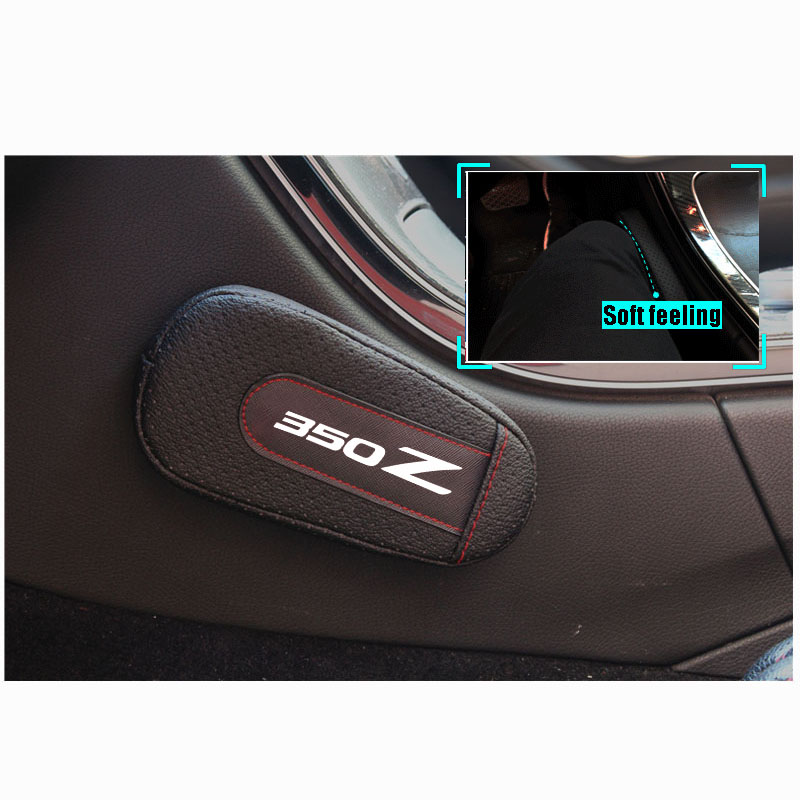 Soft Leather Leg Cushion Knee Pad Armrest Pad Interior Car Accessories For Nissan 350Z