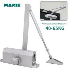 MARIE 1303 Silver Color Aluminum Alloy Door Closer 40kg-65kg Automatic Hydraulic Buffer Closing Spring Door Closer