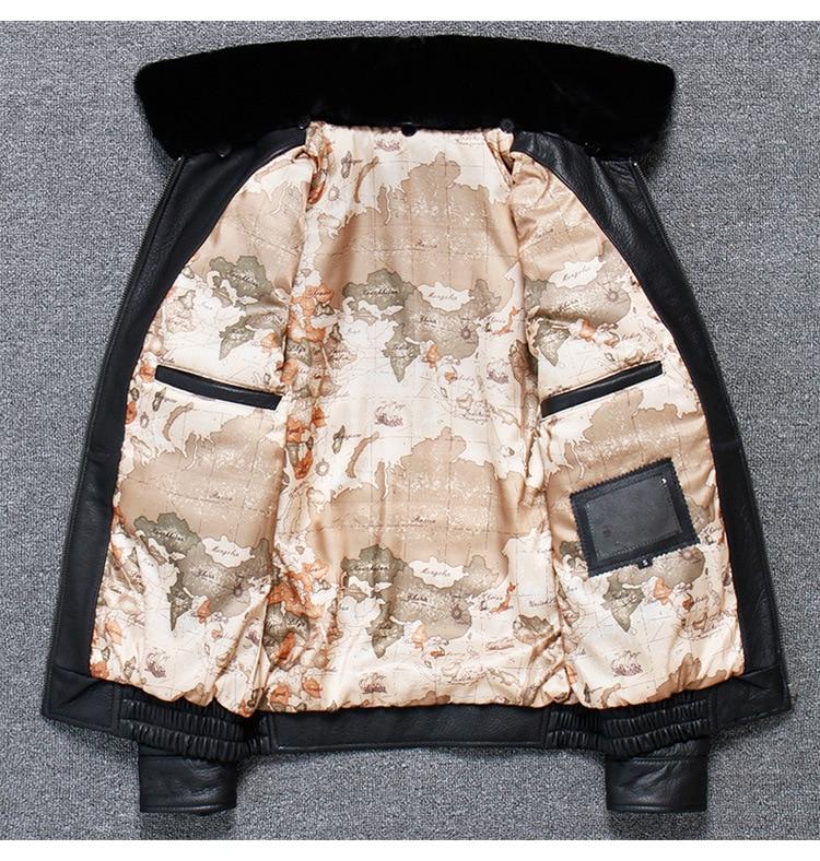 H0bff2e8efff64852818f39c6cacfcd14m 2019 Vintage Men's G1 Air Force Pilot Jackets Genuine Leather Cowhide Jacket Plus Size 5XL Fur Collar Winter Coat for Male