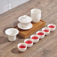Chinese Kung Fu Ceramic Teapot Cup Coffee Cup Gift Travel Portable Tea Set, very suitable for use in the office or living room.