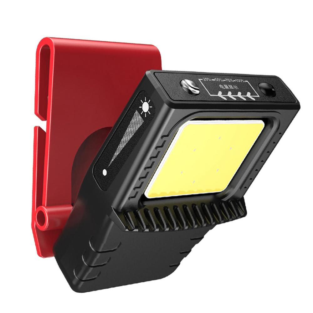 COB LED Induction Hat Clip Lights Headlight Fishing Touch Sensor Headlamp USB Charging Cap Head Lantern Clip On Head Torch