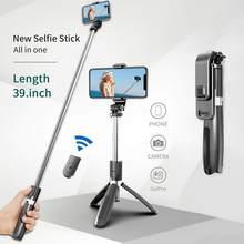 Trípode/palo Selfie inalámbrico Bluetooth, monopié plegable Mini con control remoto Bluetooth Universal para teléfonos inteligentes Gopro