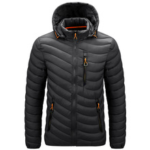 2021 Ultralight Men'S Down Brand Clothes Casual Warm Hooded Collar Coats Autumn Black Winter Jackets PARKAS Men's Windbreakers