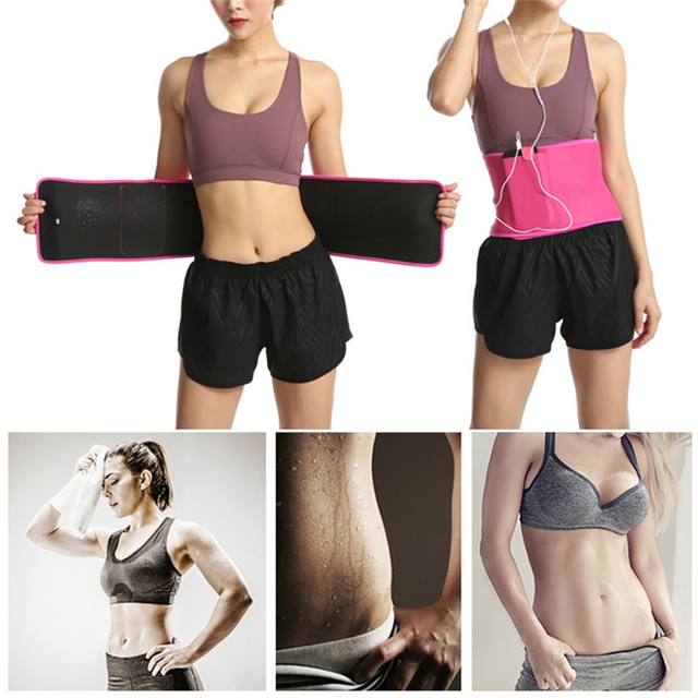 Adjustable Fitness Slimming Waist Belly Thermo Sweat Belt Body Shaper Waistband Trainer Girdle Corset Fat Burning Fitness Strap 3