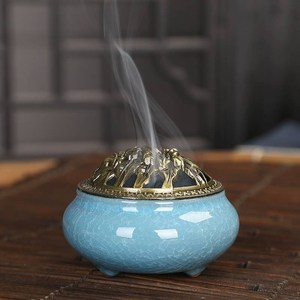Backflow Incense Burner Holder Essential Oil Burner Candle Holders Incent Burner Bruciatore Incenso Houder Smoke Fountain AB50XX