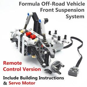Image 3 - Bausteine MOC Technic Teile Formel Off Road Fahrzeug Front Suspension System kompatibel mit lego für kinder jungen spielzeug