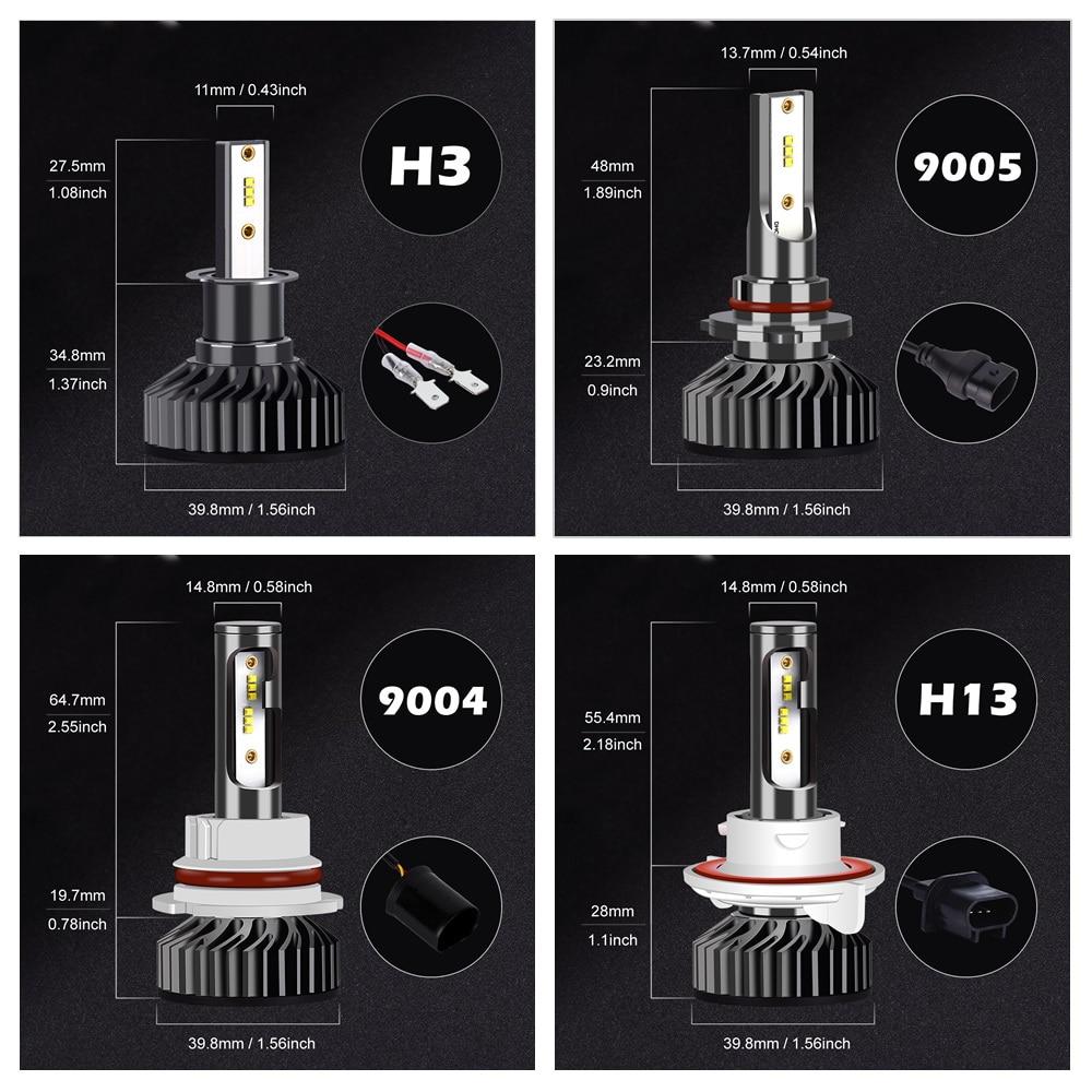 Infitary H7 светодиодный головной светильник лампочка H4 светодиодный H1 H3 H8 H11 9005 HB3 9006 HB4 зэс чипы 12000LM 6500K 12V Автомобильная Противо-Туманная светильник автомобильных ламп