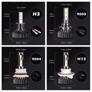 Image 5 - Infitary H4 H7 مصابيح ليد لمصابيح السيارة الأمامية 16000Lm 6500K ZES رقائق السيارات الجليد مصباح للسيارات H1 H3 H11 H13 H27 9005 HB3 HB4 الضباب أضواء