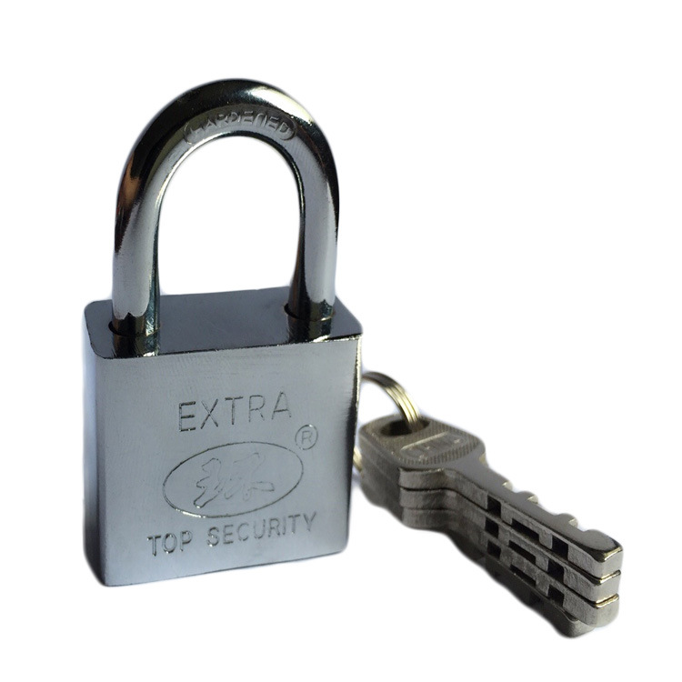 Manufacturers Direct Selling Si Fang Suo Leaf Faux Stainless Steel Padlock 40 Size Through Single Open A Pair Of Key How