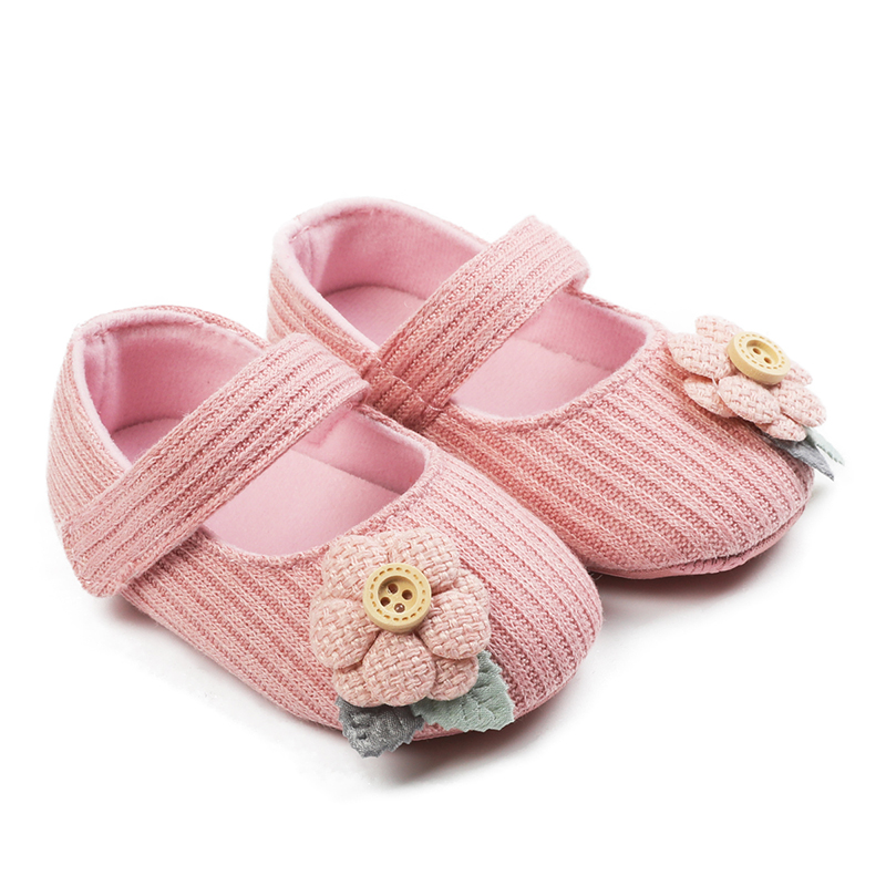 Breathable Infant Baby Shoes Girls Princess Casual Shoes Toddler Flowers Solid Shoe Children Girls Princess Sneakers Shoes