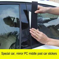 LEEPEE 1 set Center Column Window Decorative Strip for Honda Civic Series 8/9/10 Generations B-pillar Modified Car Sticker