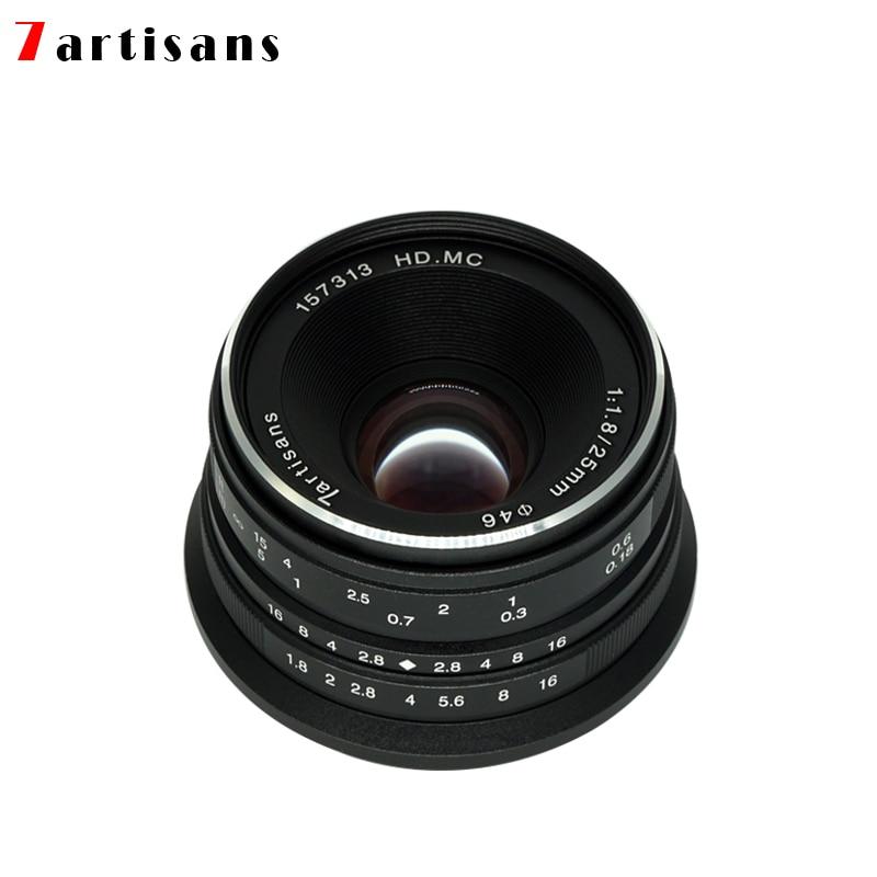 7artisans 25mm f1.8 objectif principal à toutes les séries simples pour E Mount Canon EOS-M Mout Micro 4/3 caméras A7 A7II A7R livraison gratuite - 3