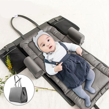 Portable Diaper Hand Bag Baby Sleeping Bed Crib For Baby Travel Newborns Leather Mommy Bag Stroller Bag Portable Cribs Baby Bed