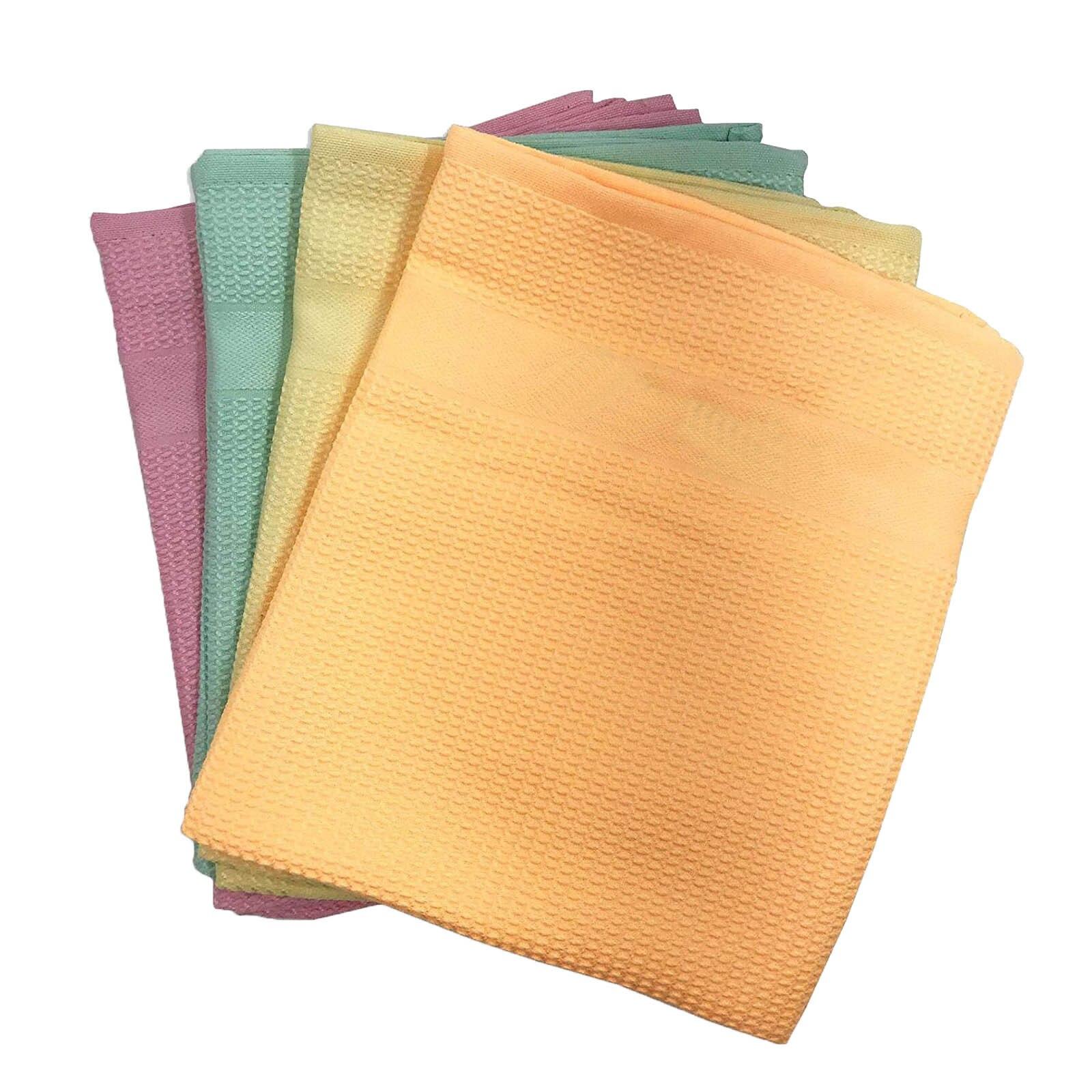 40 #4PC салфетка из микрофибры для чистки ткани многоразовые ткань для чистки многофункциональная комната для домашней стирки блюдо Кухня пос...