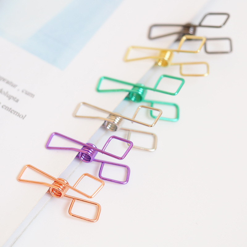 6 Pcs/pack Colorful Fine Long Tail Clip Photo Craft DIY Decoration Notes Binder Paper Clip Office School Student Supplies