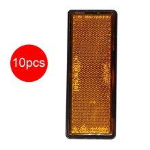 Wytrzymałe reflektory samochodowe prostokątne pomarańczowe paski odblaskowe pomarańczowe podłużne prostokątne reflektory przyczepy tanie tanio