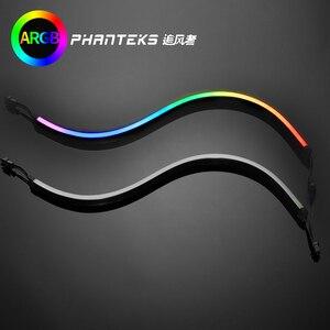 Image 1 - PHANTEKS Combo ışık şeridi ARGB Neon bilgisayar kasası dekorasyon LED şerit 5V 3PIN ışık başlığı AURA 400mm X 2 adet