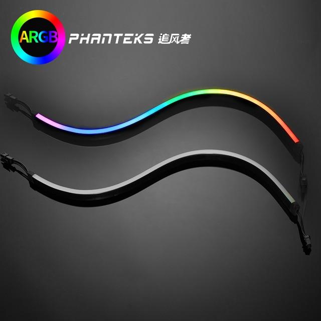 PHANTEKS Combo ışık şeridi ARGB Neon bilgisayar kasası dekorasyon LED şerit 5V 3PIN ışık başlığı AURA 400mm X 2 adet