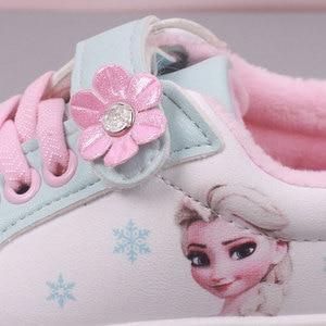 Image 4 - Niños Niñas zapatos de pisos casuales niños estudiante zapato niño zapatillas de deporte de moda Elsa Anna zapatillas de deporte de invierno deporte de abrigo zapato