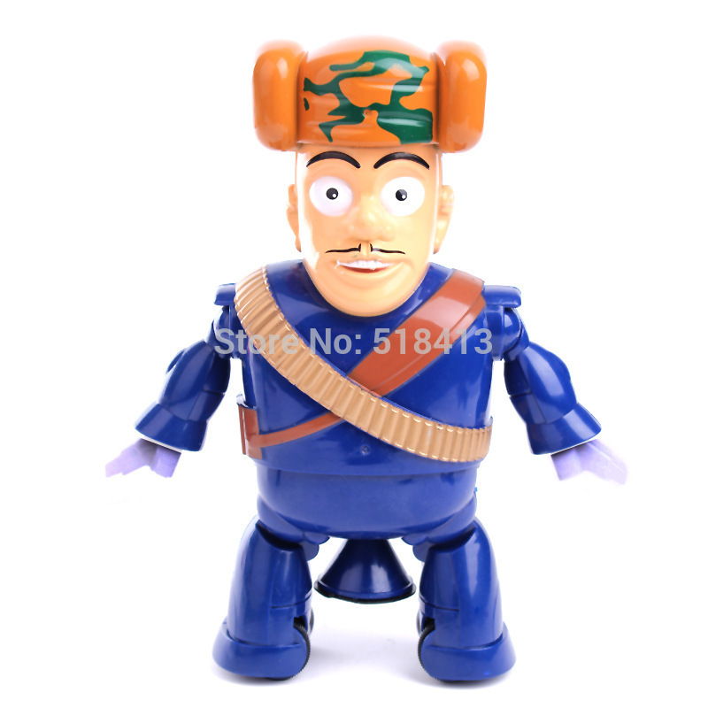 Electric Toy Bears Strong Baldheaded Sing Can Dance Rotate Dancing Glows Electric Toy Doll Unisex Movie & Tv Robot Plastic