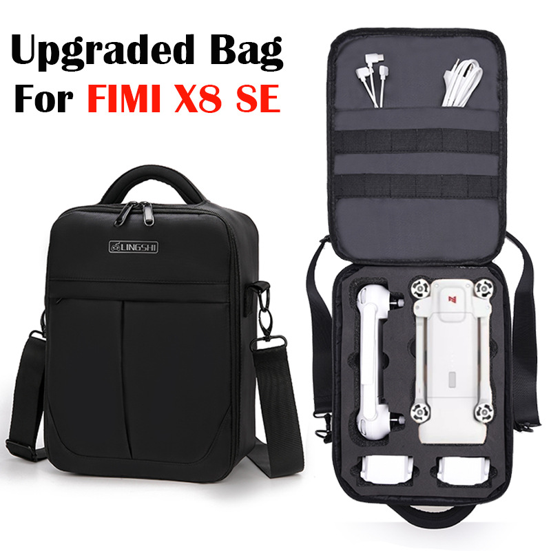 Upgraded Shoulder Bag Backpack For Xiaomi FIMI X8 SE Quadcopter Accessories Shockproof Shoulder Carry Case Storage Bags