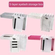 5/10 Layers Eyelash Extension Storage Box Acrylic Makeup Organizer False Eyelash