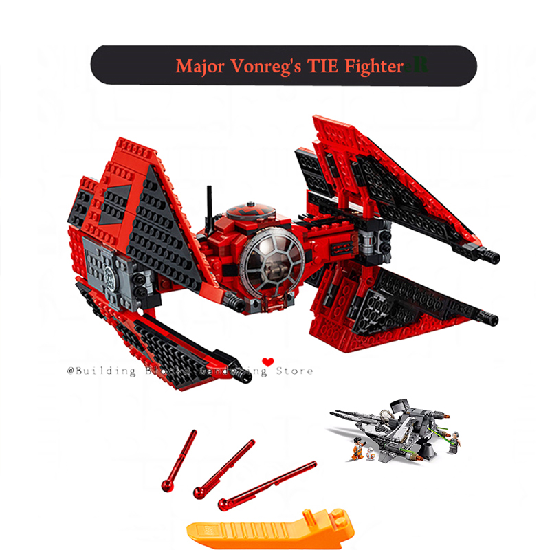 star Wars Imperial Tie Fighter AT-TE Walker Compatible lepining Starwars 75221 75240 75241 Building Blocks Bricks Toys image