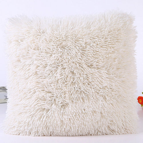 43*43cm Plush Furry Cushion Cover New Pillow Case Decorative Throw Pillow Case Home Bed Room Sofa Decor Home Decor