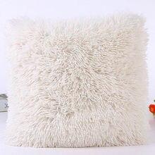 Funda de cojín peluda de felpa de 43x43 cm nueva funda de almohada cojín decorativo funda hogar cama habitación sofá decoración hogar
