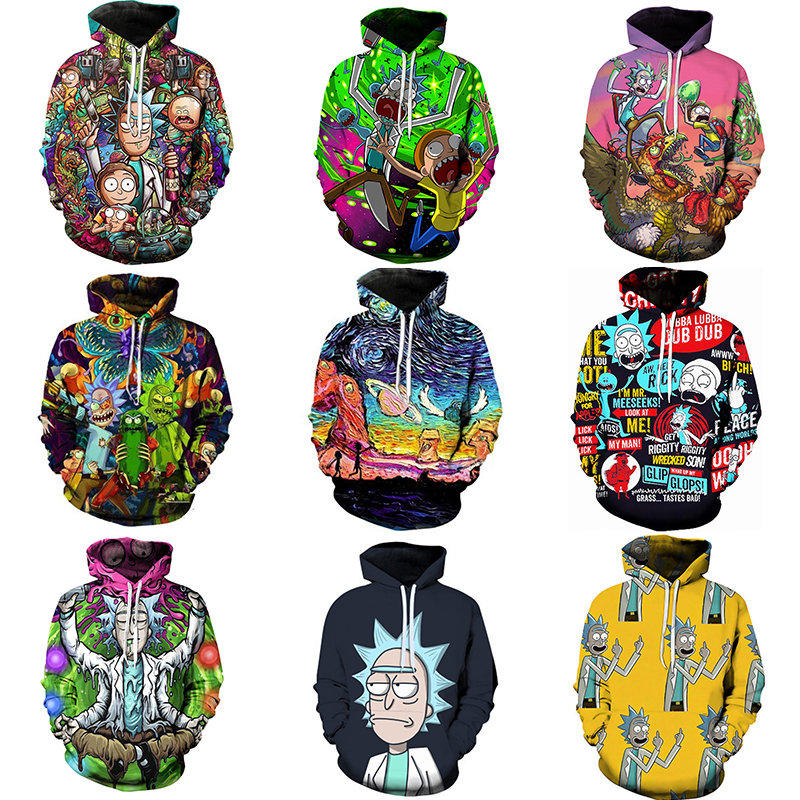 2020 New Rick And Morty Hoodie Men's Skateboard Rick Morty Hooded Sweatshirt Men's And Women's Hooded Pullover Hoody
