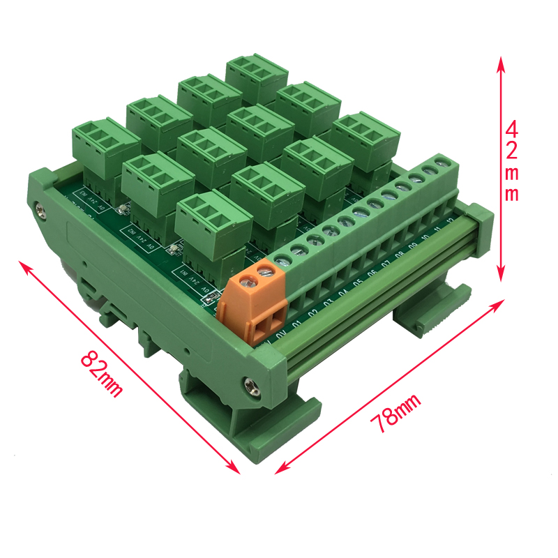 PLC12 Channel 2 Wire 3 Wire NPN Input Spring Wiring IO Photoelectric Proximity Magnetic Open Switch Sensor Terminal Block