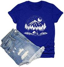 T shirt for women vacation graphic tee print casual novelty