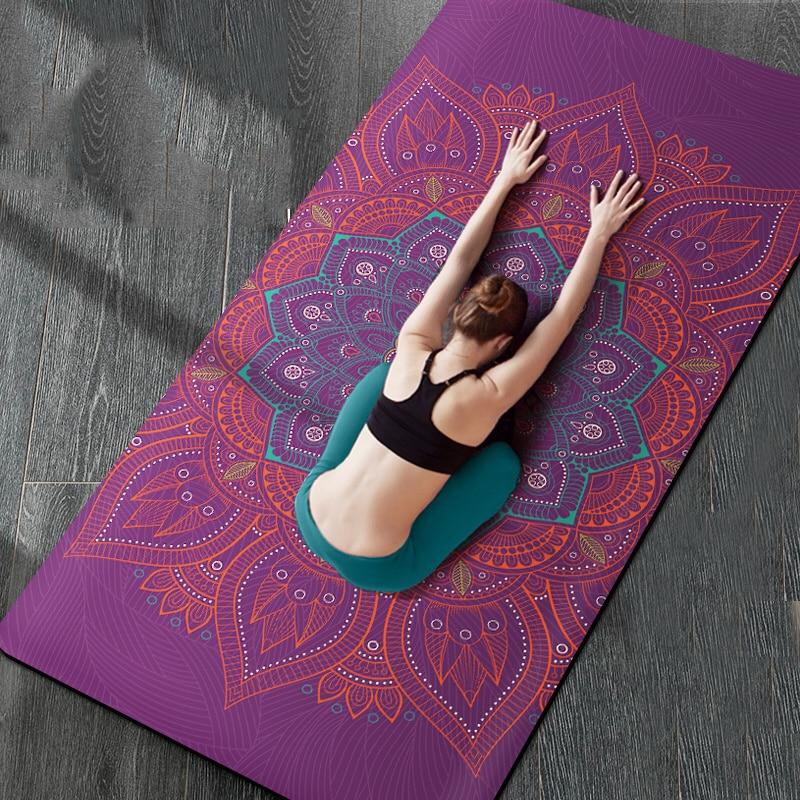 183cm*80cm*6mm Natural TPE Suede YOGA MAT Heathyoga PRO Yoga Mat Broaden 80CM Widen Slip-resistant Comfortable Fitness Mats