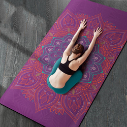 183cm * 80cm * 6mm Natuurlijke TPE Suede yoga MAT Heath yoga PRO yoga Mat Verbreed 80CM Verbreden antislip Comfortabele Fitness Matten